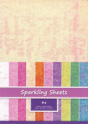 8.6965 Sparkling Sheets Daffodil, 4 sheets A4