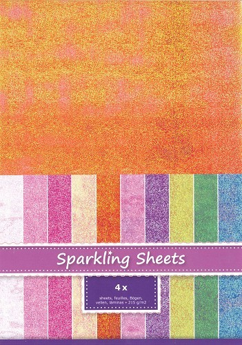 8.6970 Sparkling Sheets Tangerine, 4 sheets A4