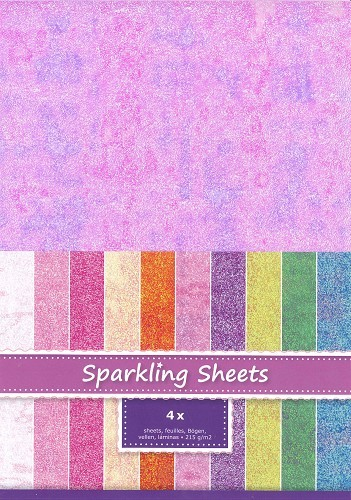 8.6975 Sparkling Sheets Plum, 4 sheets A4