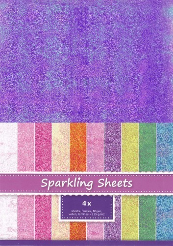 8.6980 Sparkling Sheets Purple 4 sheets A4