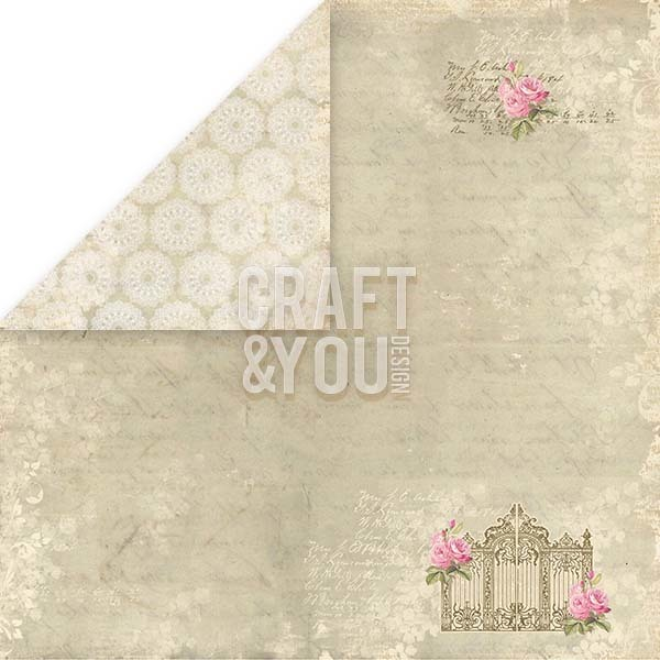 CP-ILV07 I LOVE VINTAGE Sheet of elements to be cut out 12x12, 200gsm
