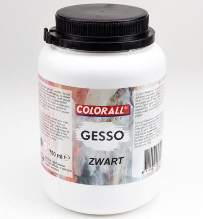 COLGS75063 Colorall Gesso Zwart 750ml / 1100gr.