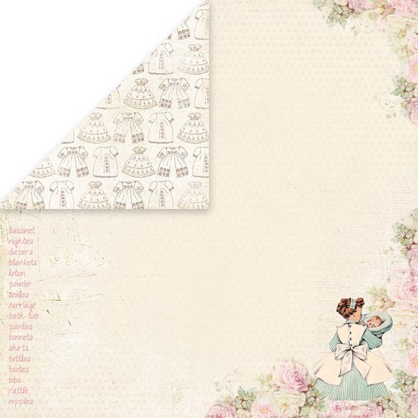 CP-RG07 Rose Garden Sheet of elements to be cut out 12x12