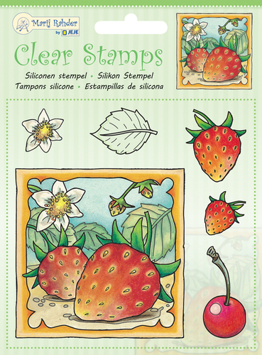 9.0045 MRJ Clear Stamps Strawberry